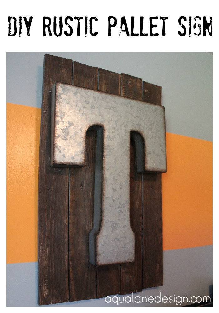DIY Rustic Pallet Sign pin