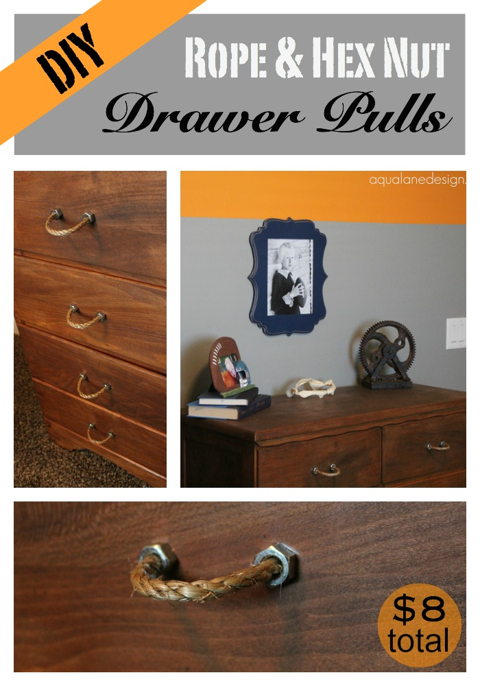 Rope & Hex Nut Drawer Pulls Pin
