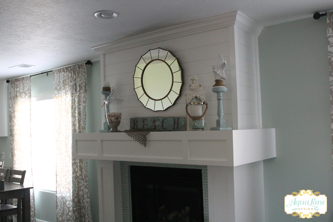 beachy summer mantle side