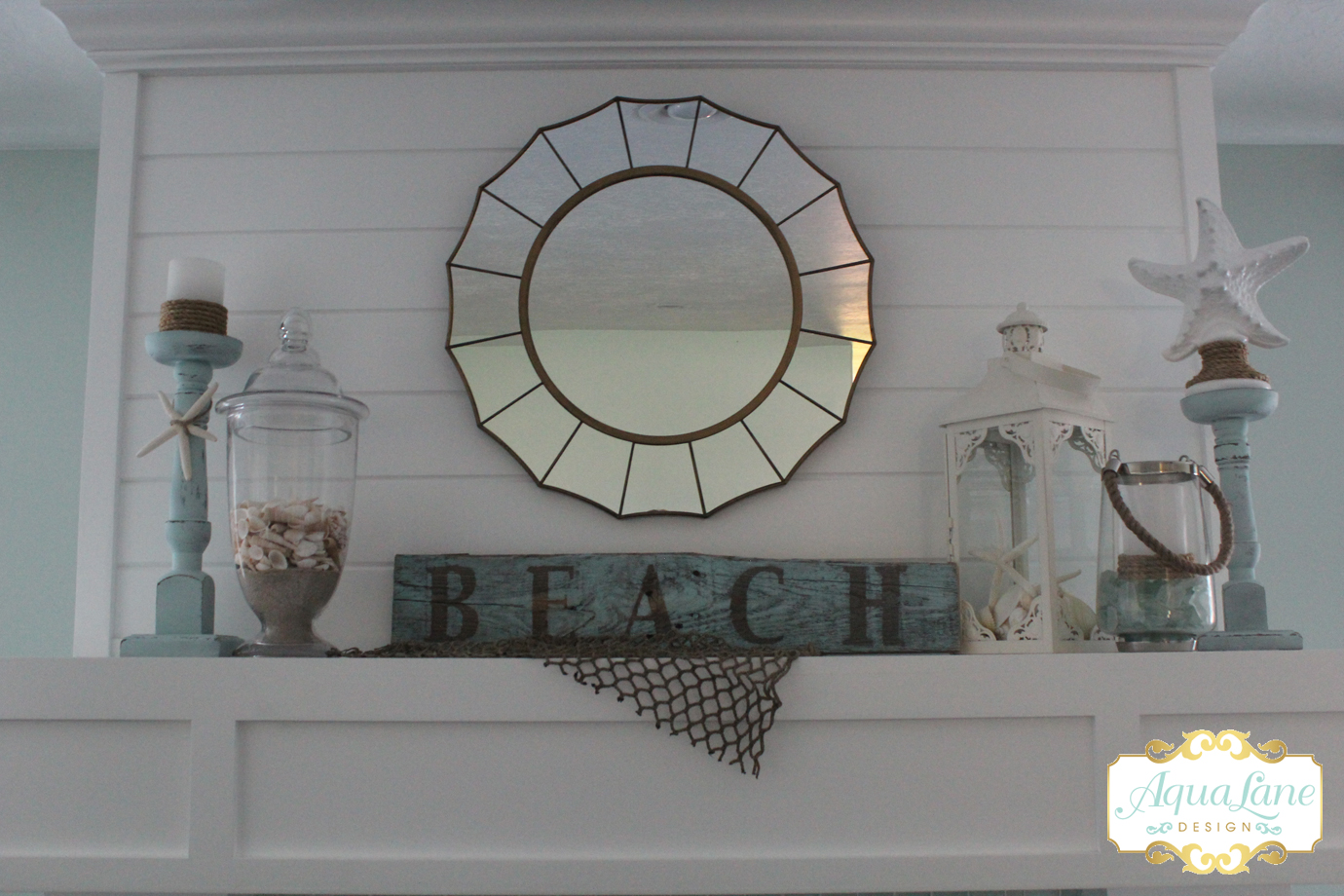 beachy summer mantle top