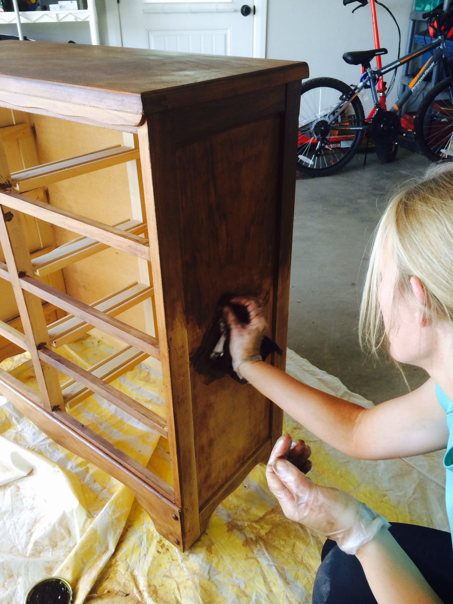 staining ugly dresser