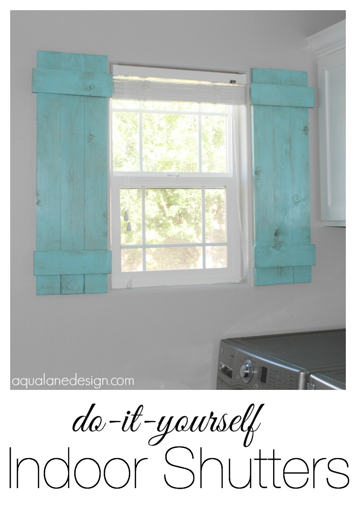 DIY Indoor Shutters