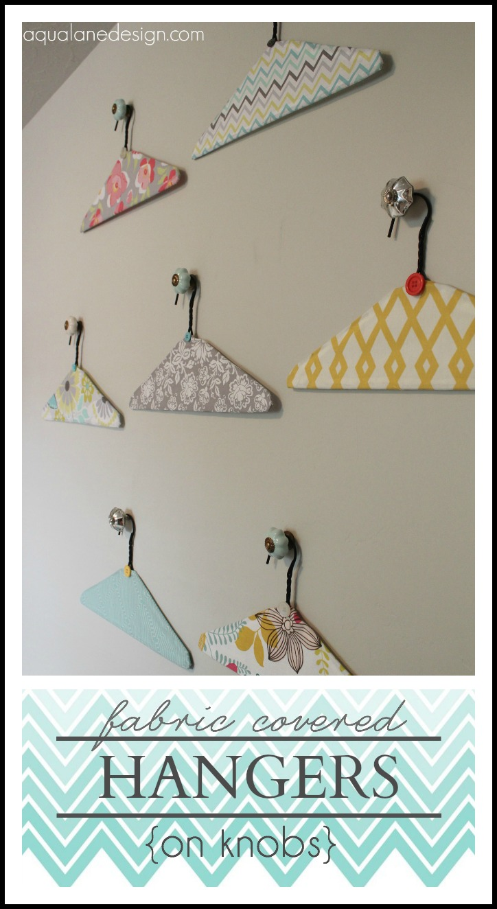Good Laundry Room Fabric Part - 7: Fabric Covered Hangers On Knobs