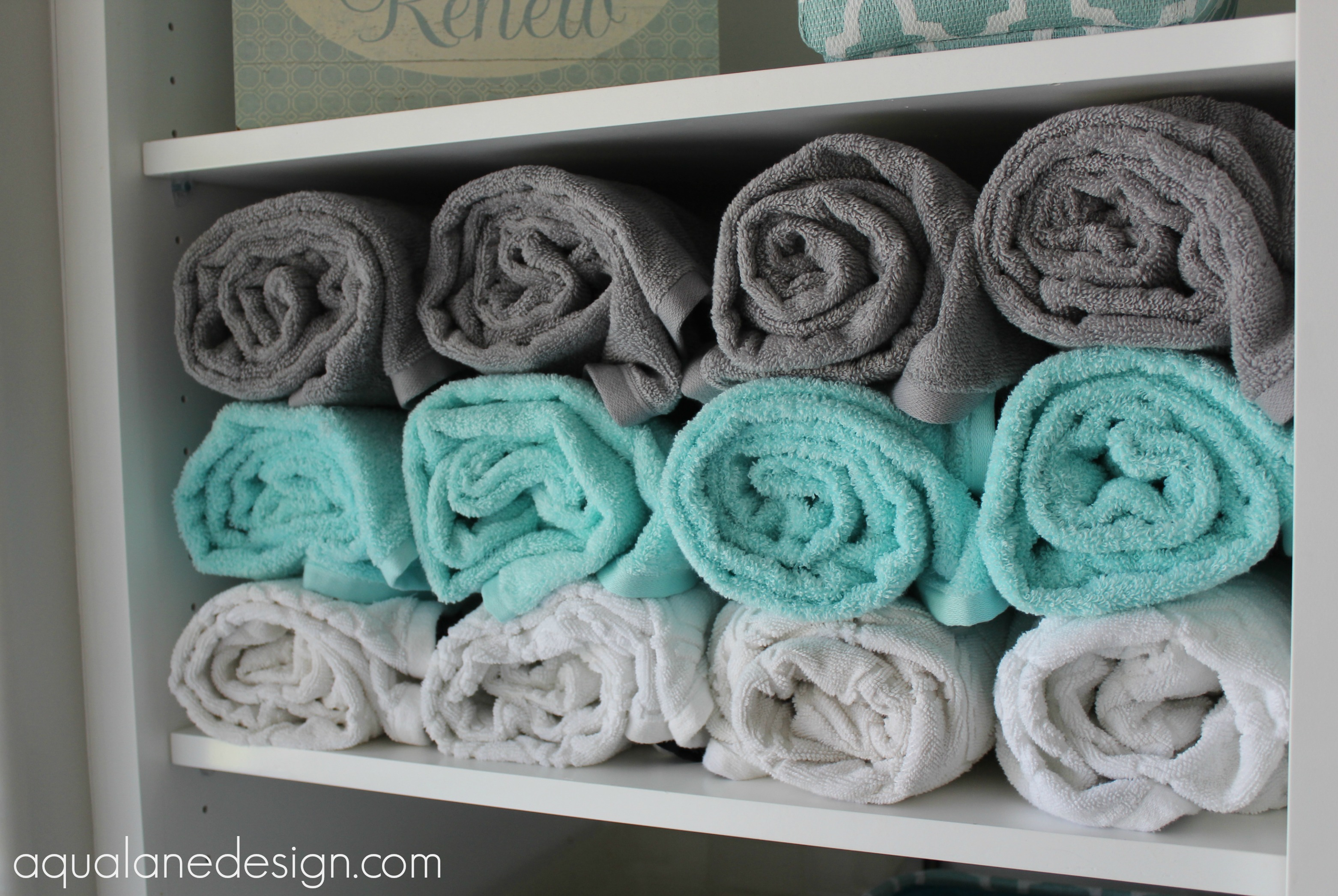 master bath towel storage