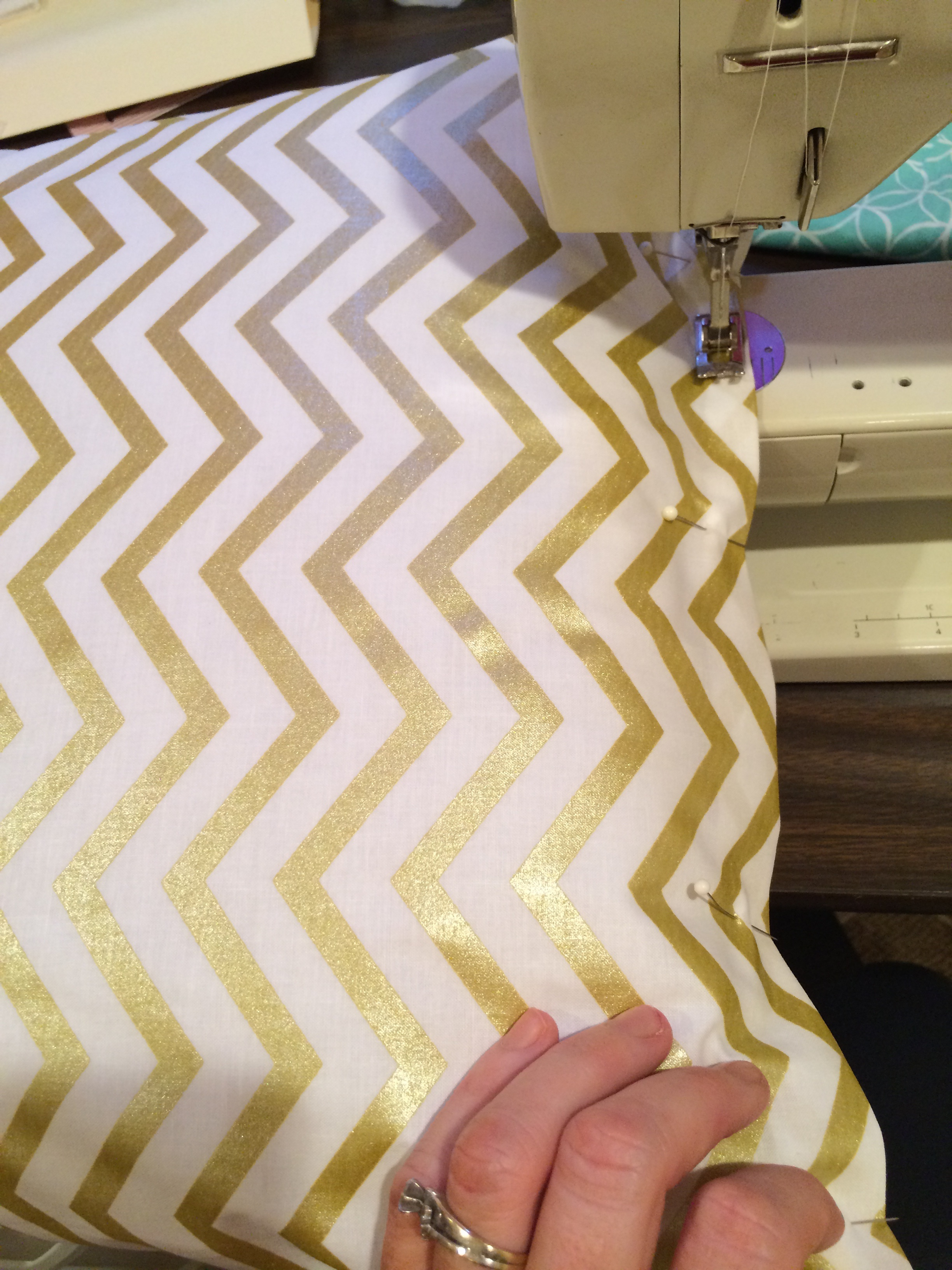 sewing pillow bottom