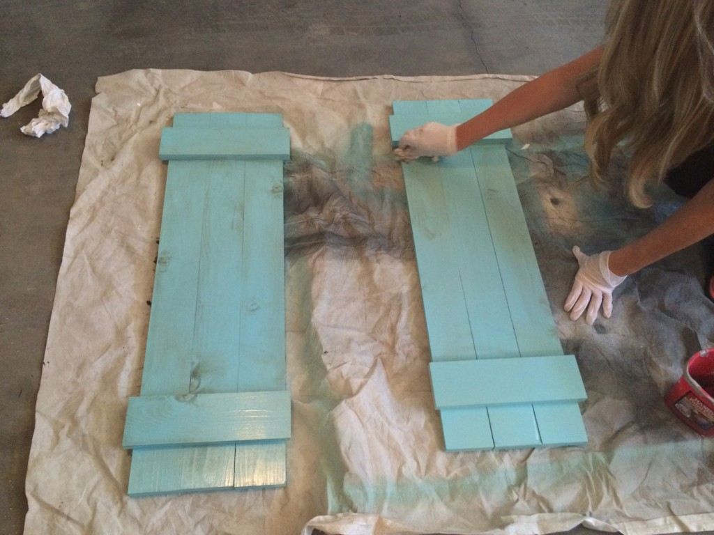 staining shutters