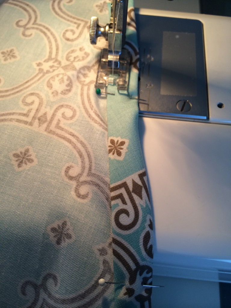 sewing seam ironing board
