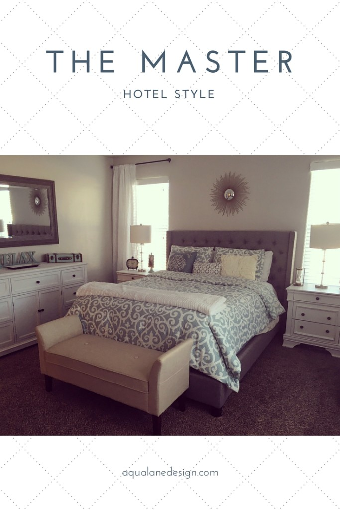 Master Bedroom Redo Hotel Style Aqua Lane Design