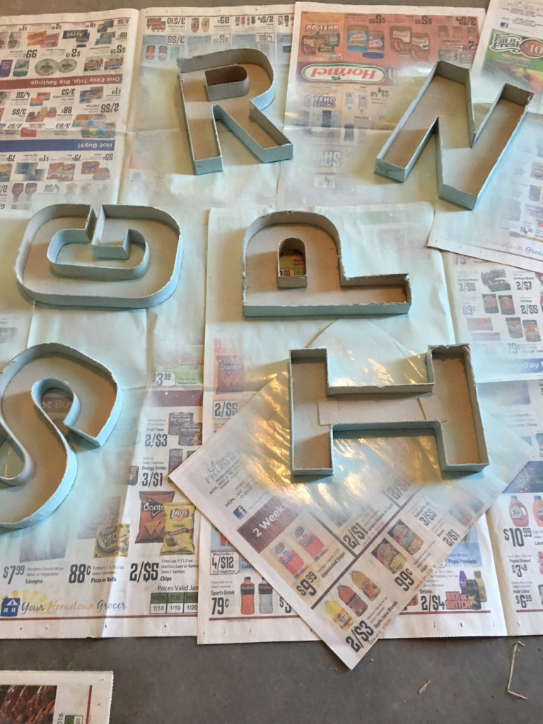 spray painted letters